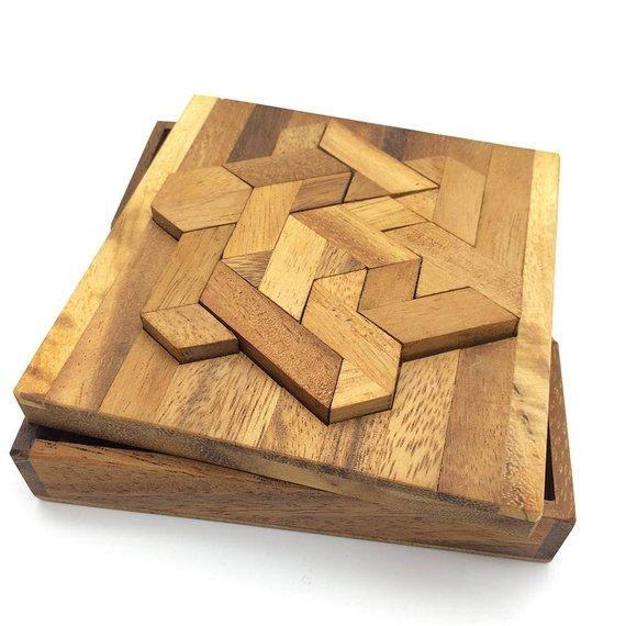 wooden puzzle handmade