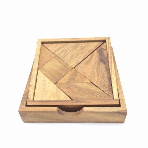 wooden puzzle 7 pcs