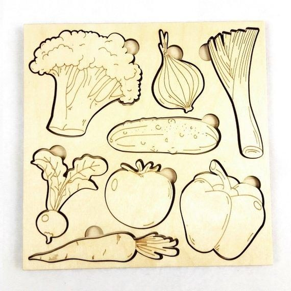 Vegetables Learning Puzzle