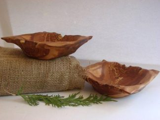 Set of Apple Wood Bowls