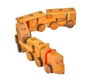 wooden handmade train