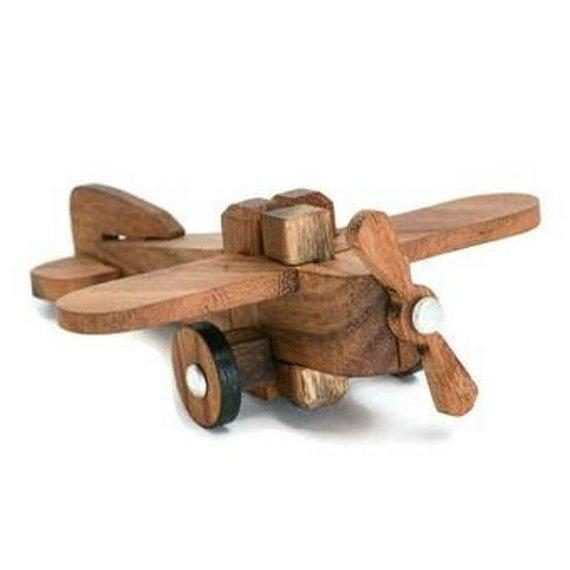 wooden airplane puzzle