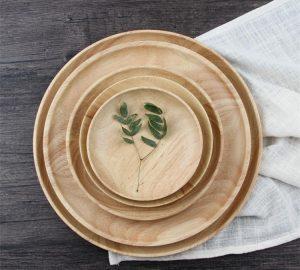 wooden dinneware