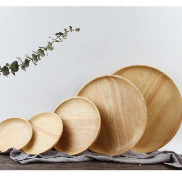 handmade wooden dinneware