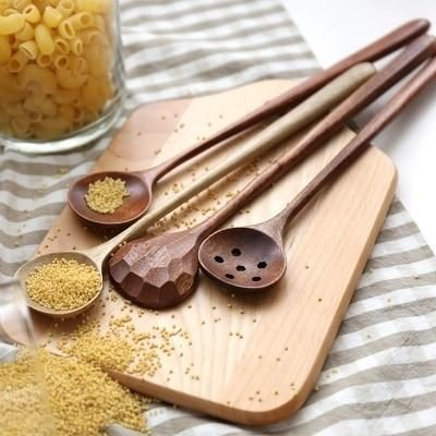 set of handmade wooden spoons