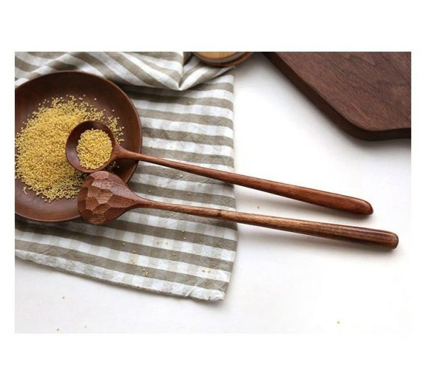 perfect textured wooden spoon
