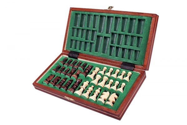 handmade magnetic wooden chess set