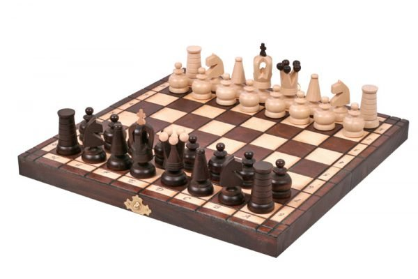 mini chess set royal wooden