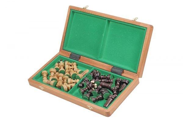 folding inlaid chess set