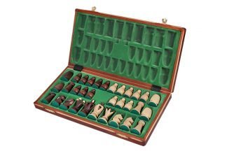 wooden chess set 17 inch