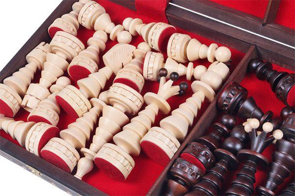 handmade chess set festive
