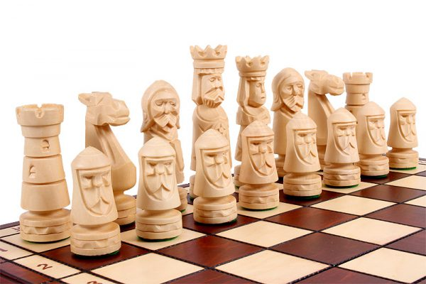 ancient folding chess set