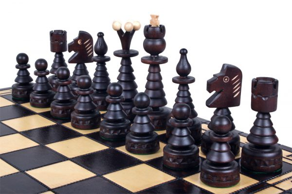 handmade chrismtas chess set