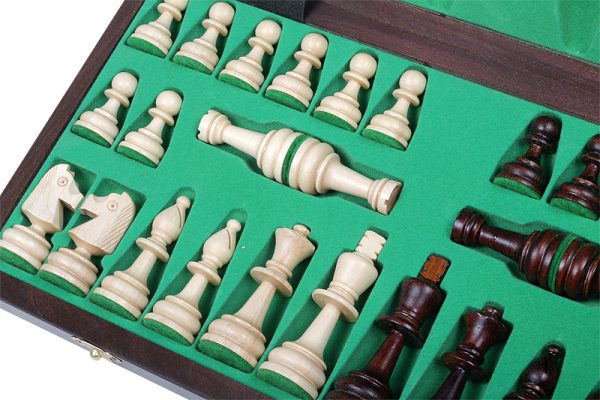 olympic chess set wooden
