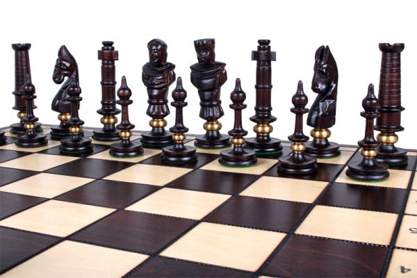 royal wooden chess set lux