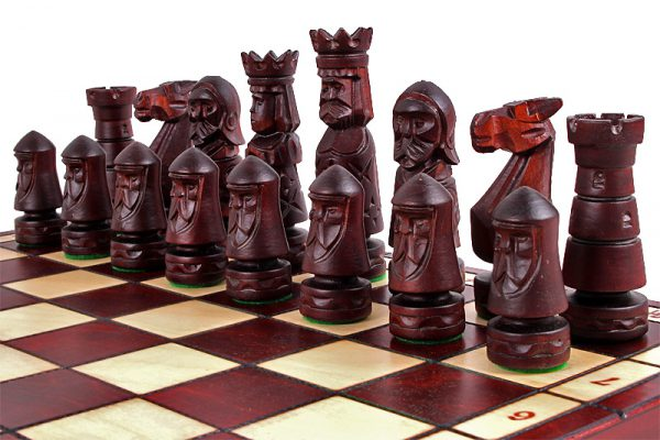 folding ancient chess set