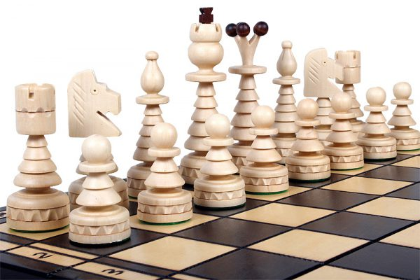folding christmas chess set