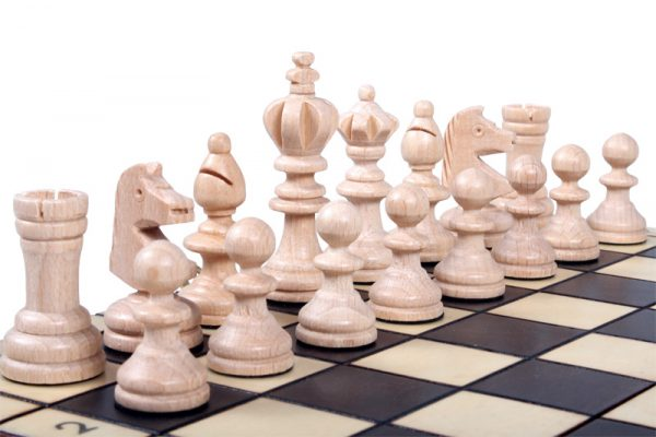 wooden olympic chess