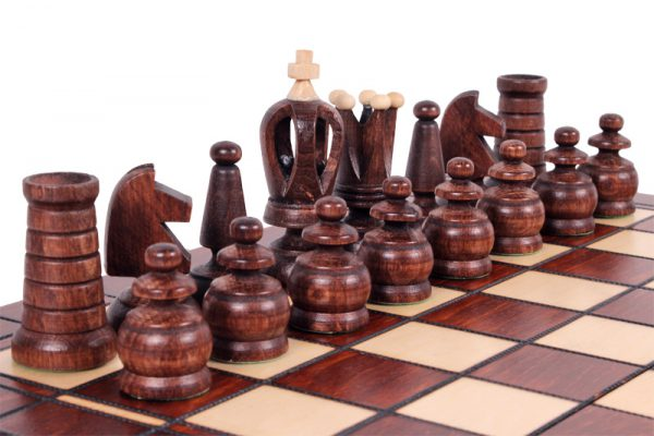 13 inch chess set wooden