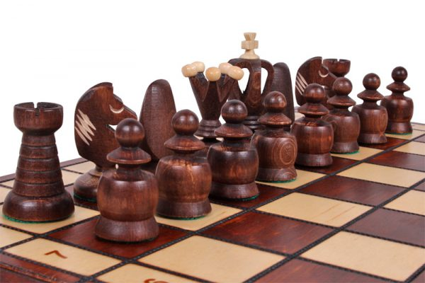 17 inch chess set wooden