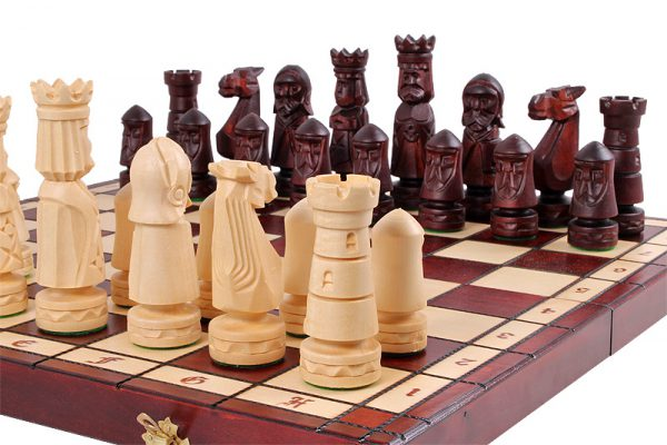 wooden chess set 20 inch