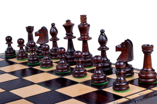 wooden chess set olympic