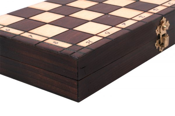 mini chess set wooden