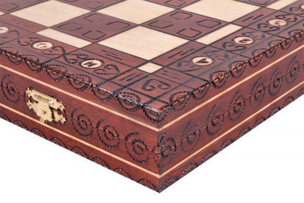 large royal chess set wooden