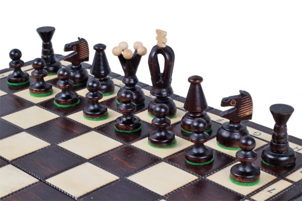handmade wooden chess set medium