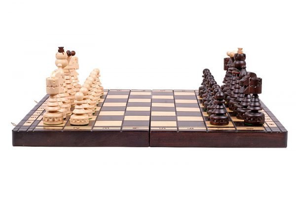 christmas chess set wooden