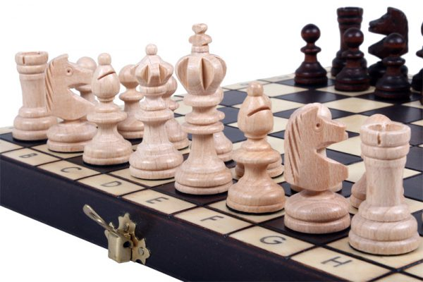 mini wooden olympic chess set