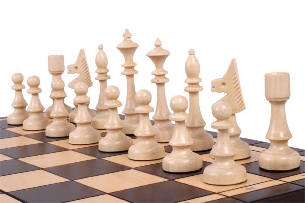 wooden chess set club
