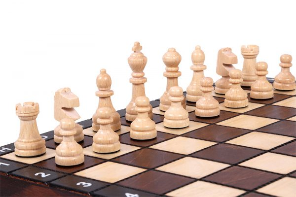 handmade school chess set