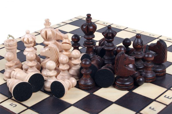 wooden handmade mini olympic chess