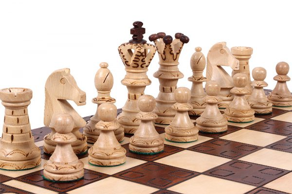 21 inch royal chess set wooden