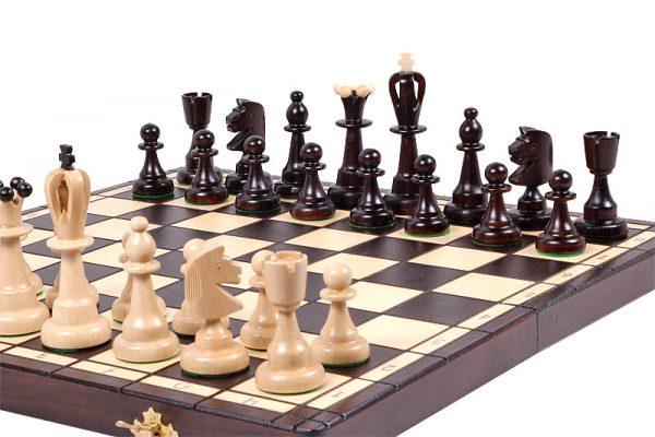 handmade wooden chess set 16 inch