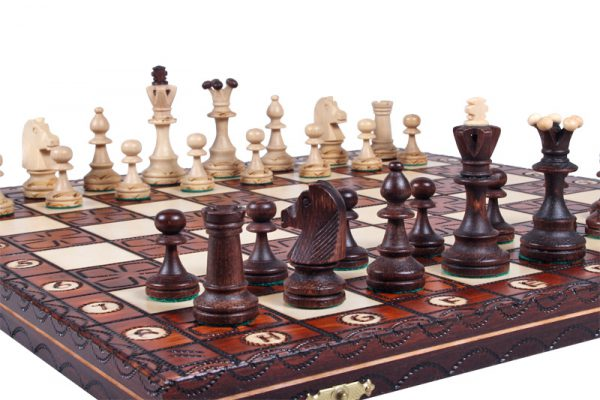 wooden chess set junior handmade