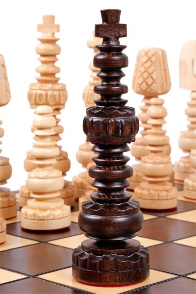 wooden mars chess set