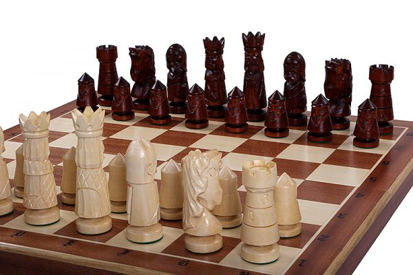 handmade castle chess set