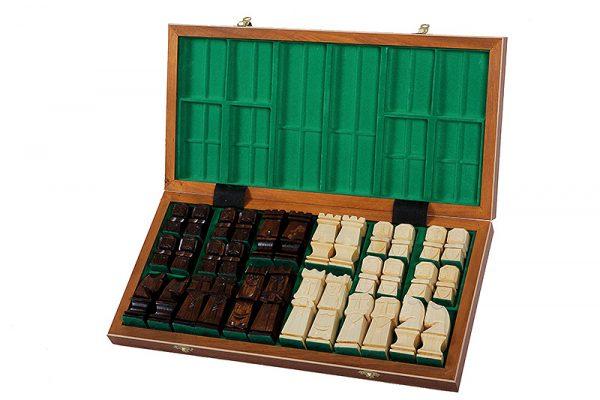 handmade wooden orawa chess set