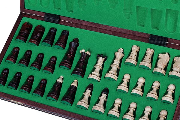 handmade wooden ornament chess set