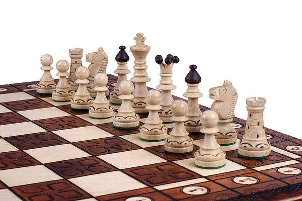 16 inch chess set ornament wooden