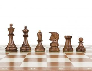 wooden royal chess pieces