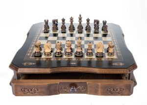 large chess set antique