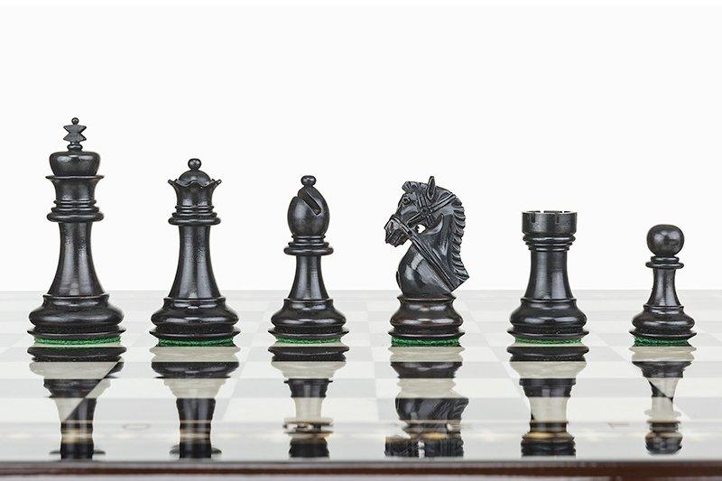 Schachspiel New York Black Combo 48 cm