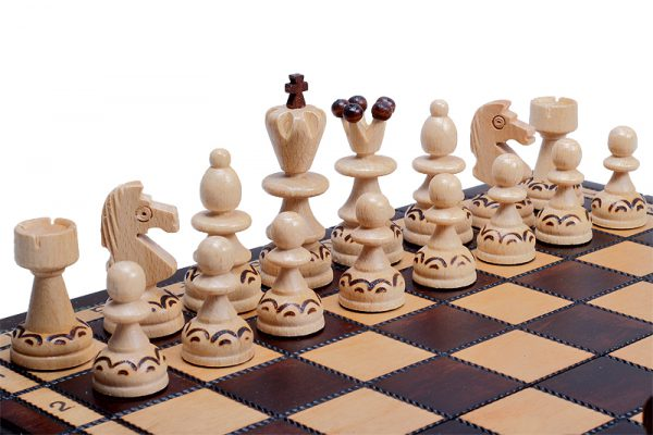 handmade wooden chess set paris