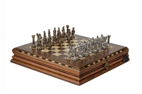 Luxus Schachspiel Antique 25 cm