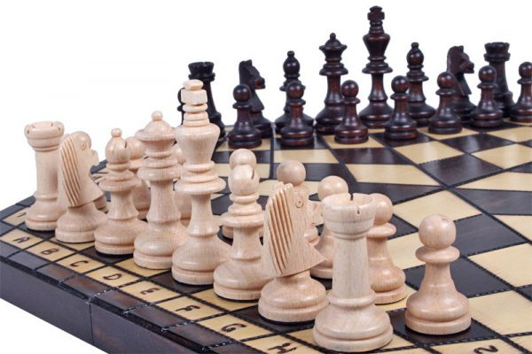 three player chess wooden