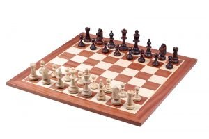 chess pieces staunton brown