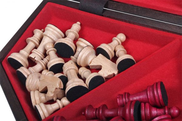 three player chess set wooden